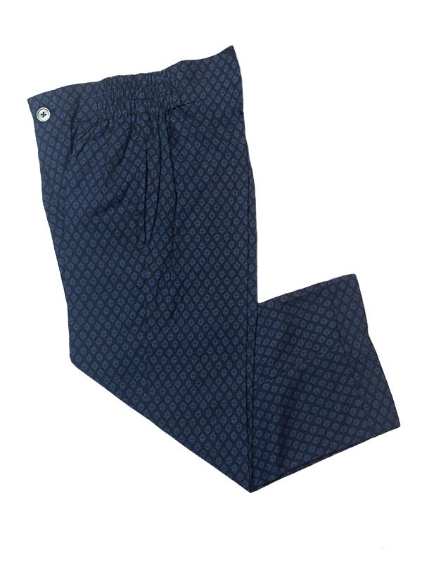 Dark Blue Diamond Pajama Pants