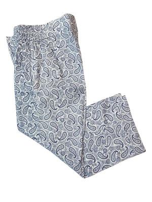 Blue & White Paisley Pajama Pants