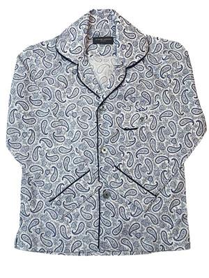 Blue & White Paisley Pajama Shirt