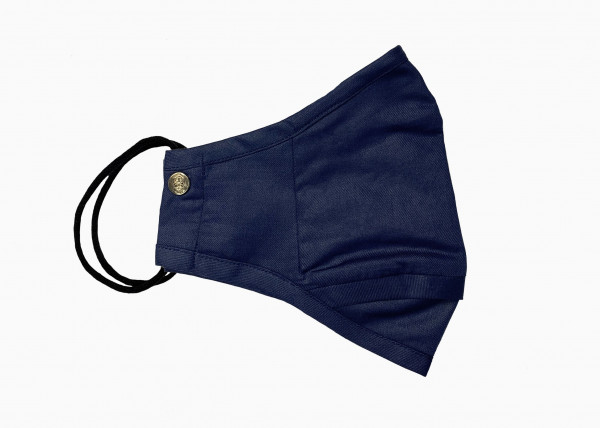Navy Blue Cotton Mask