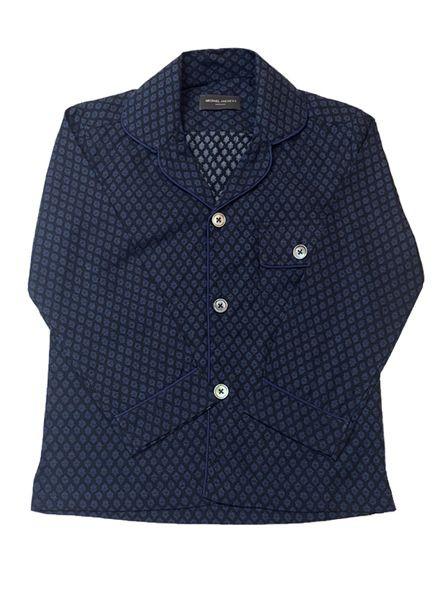 Dark Blue Diamond Pajama Shirt