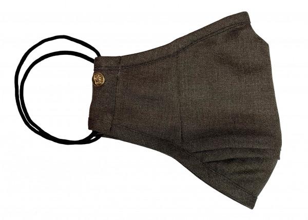 Chocolate Brown Wool Mask