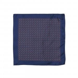 Blue Horse Bit Icon Pocket Square