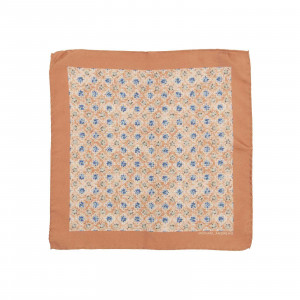 Blush Kaleidoscope Medallion Pocket Square