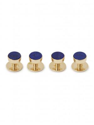 Lapis Lazuli Tuxedo Studs (Yellow Gold)