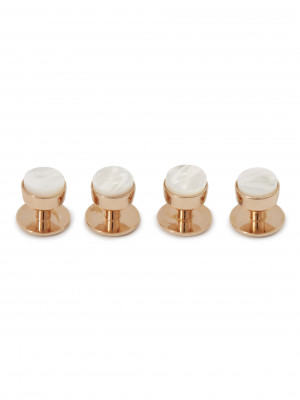 Mother of Pearl Tuxedo Studs (Rose Gold)