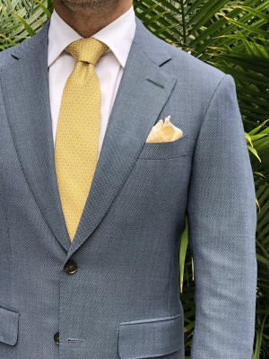 Sky Blue Birdseye Suit