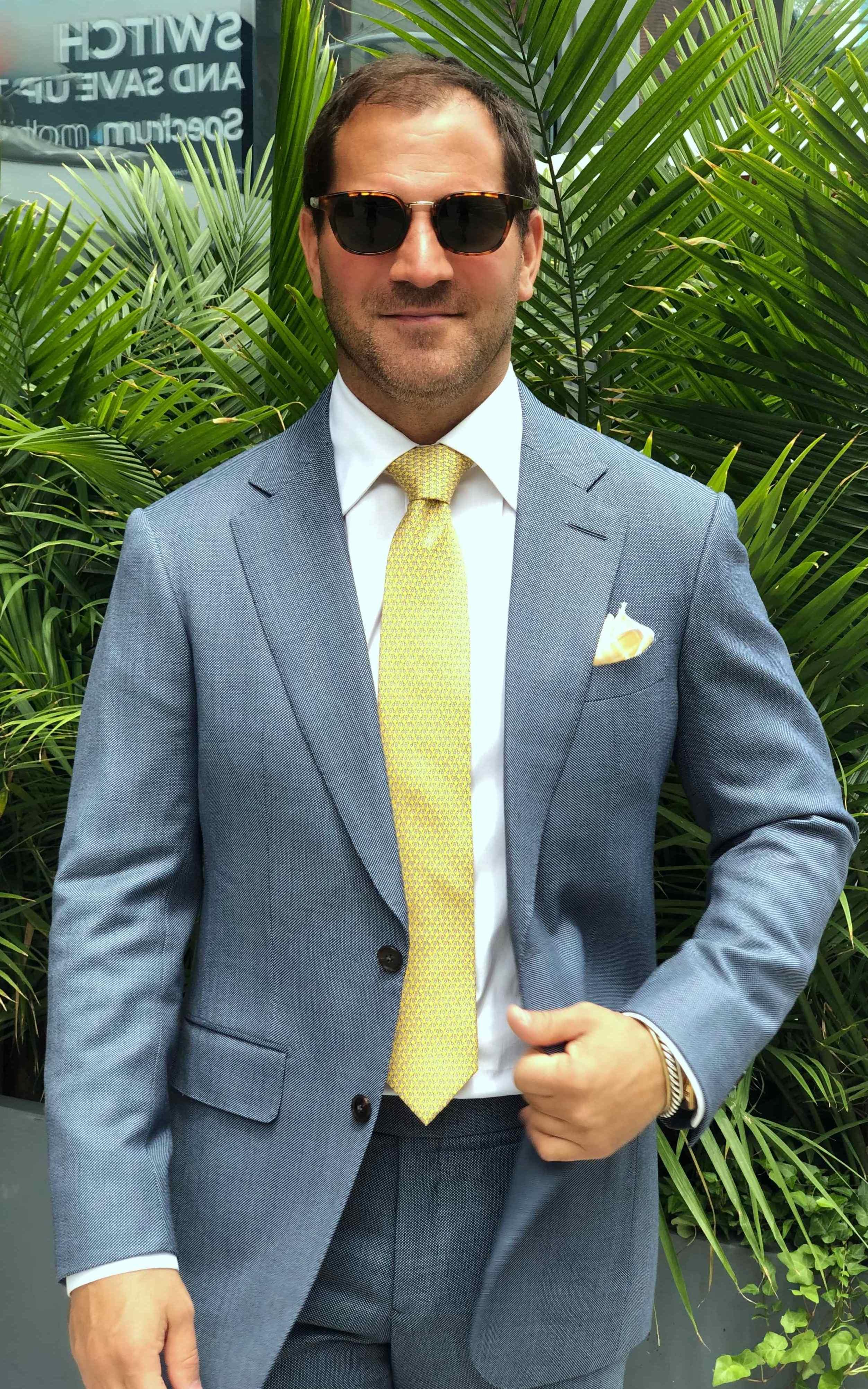 Sky Blue Birdseye Suit
