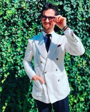 MTM Off-White Linen Suit