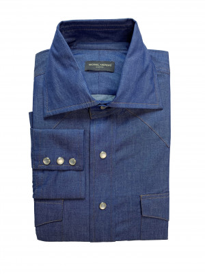 Blue Light-Weight Denim Western Shirt