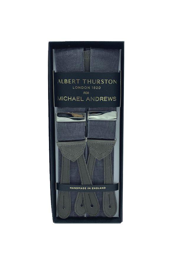 Dark Grey Moire Suspenders