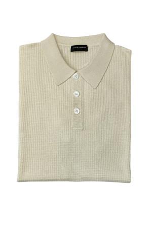 Ivory Silk Cashmere Link Stitch Knit Pullover