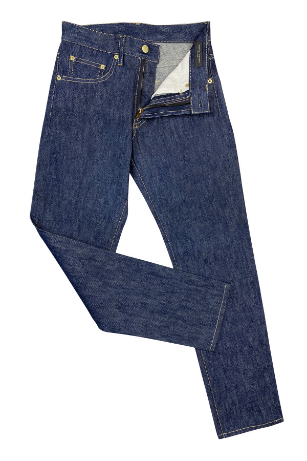 Navy Blue Stretch Denim Jeans