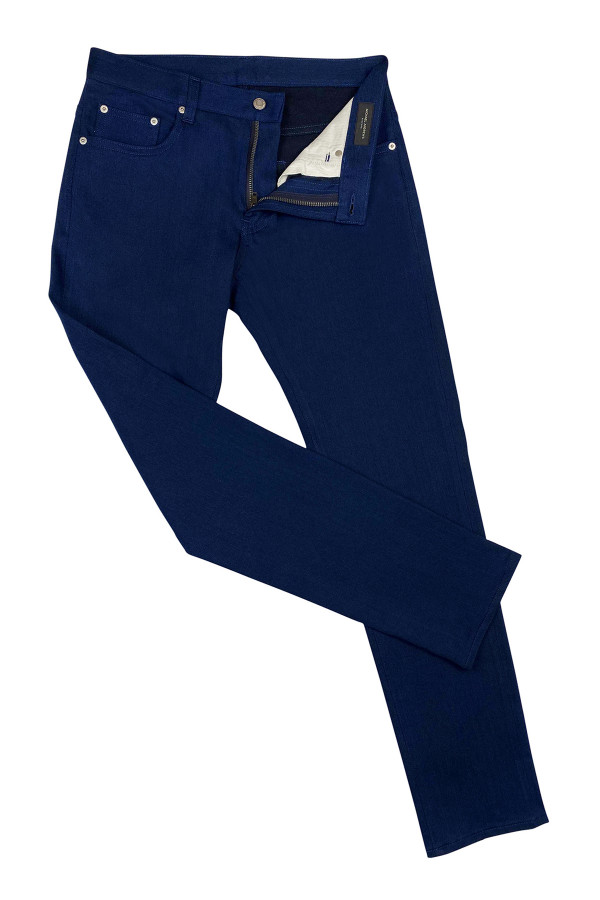 Royal Blue Stretch Denim Jeans