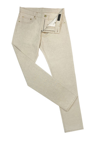 Natural Cotton/Linen Canvas Jeans