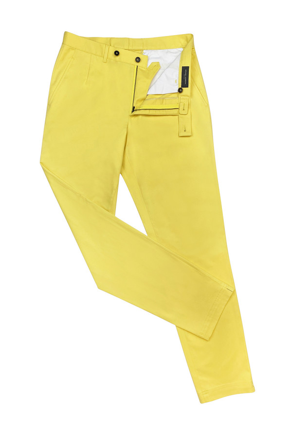 Lemon Stretch Cotton Casual Pants