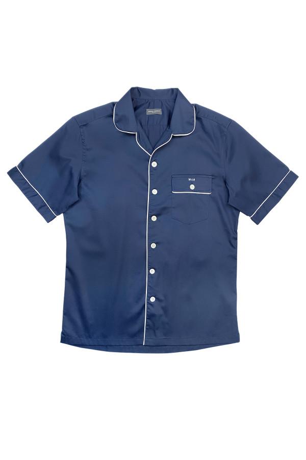 Navy Short Sleeve Pajama Shirt