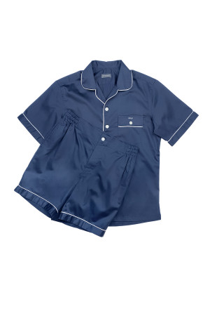 Navy Pajama Shorts