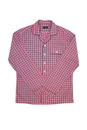 Red & Pink Check Pajama Shirt