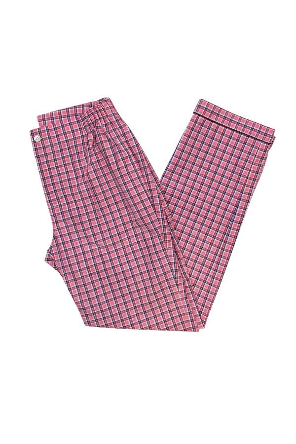 Red & Pink Check Pajama Pants