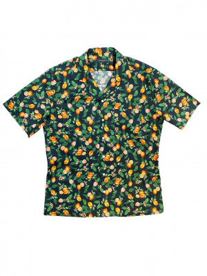 Oranges Floral Print Camp Shirt