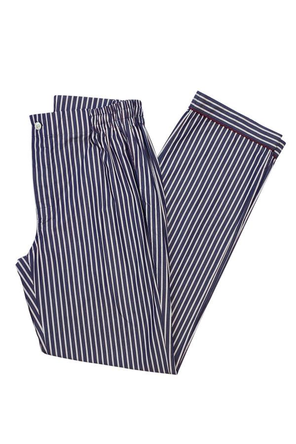 Red & Dark Blue Stripe Pajama Pants
