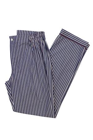 Red and Dark Blue Stripe Pajama Pants