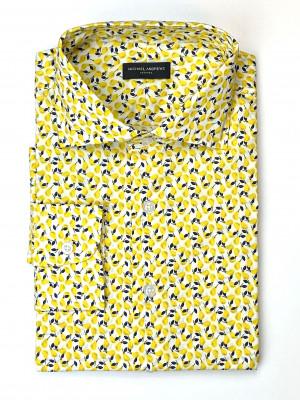 Yellow Lemons Floral Shirt