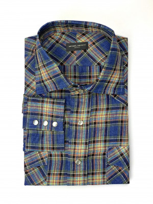 Multi-Colored Check Sahara Western Shirt