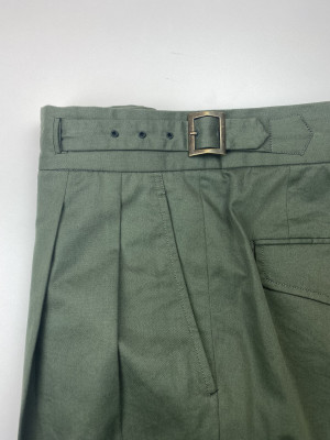 Green Cotton Gurkha Trousers