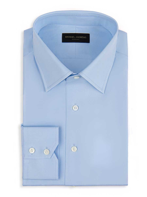 Light Blue Poplin Classic Collar Shirt