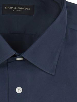 Navy Twill Classic Collar Shirt