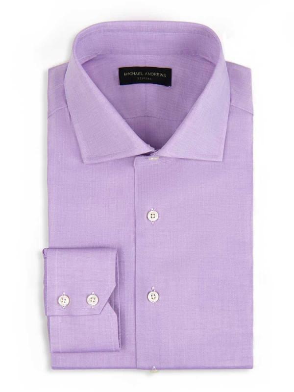 Lavender Zig Zag Spread Collar Shirt
