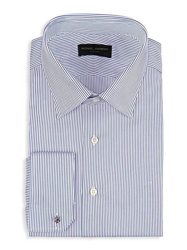 Blue Thin Strip Classic Collar Shirt