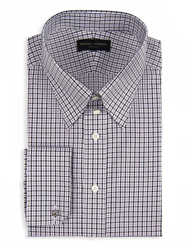 Charcoal & Tattersall Tab Collar Shirt