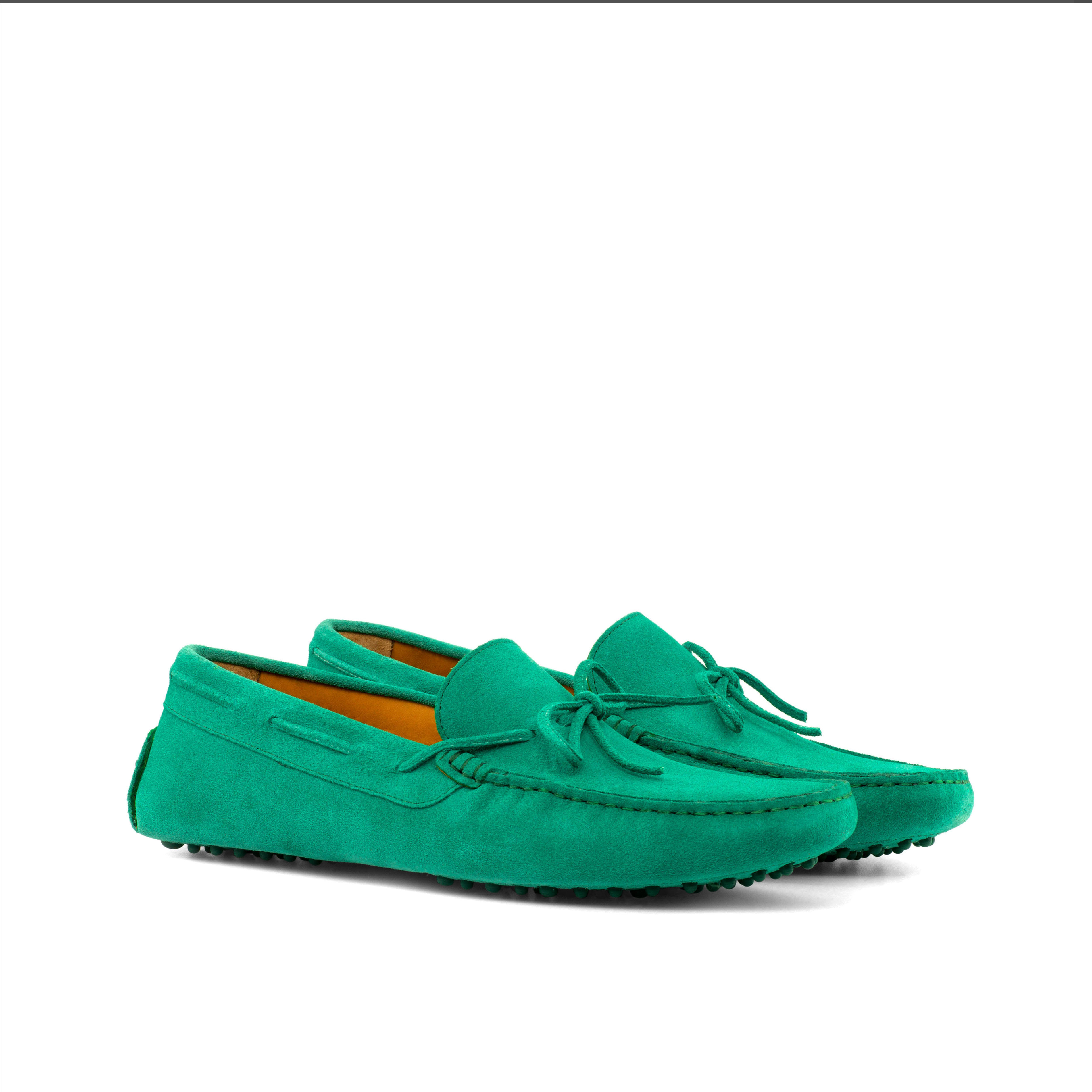Green Suede Driver