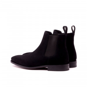 Black Suede Chelsea Boot
