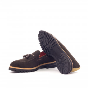 Chocolate Suede Tassel Loafer