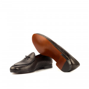 Brown Python Belgian Slipper