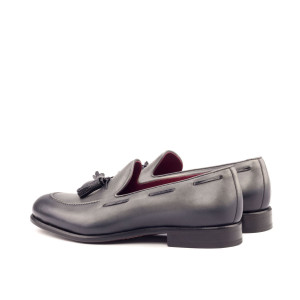 Grey Burnished Calf Loafer