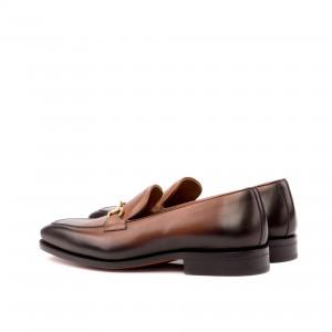 Brown Burnished Loafer