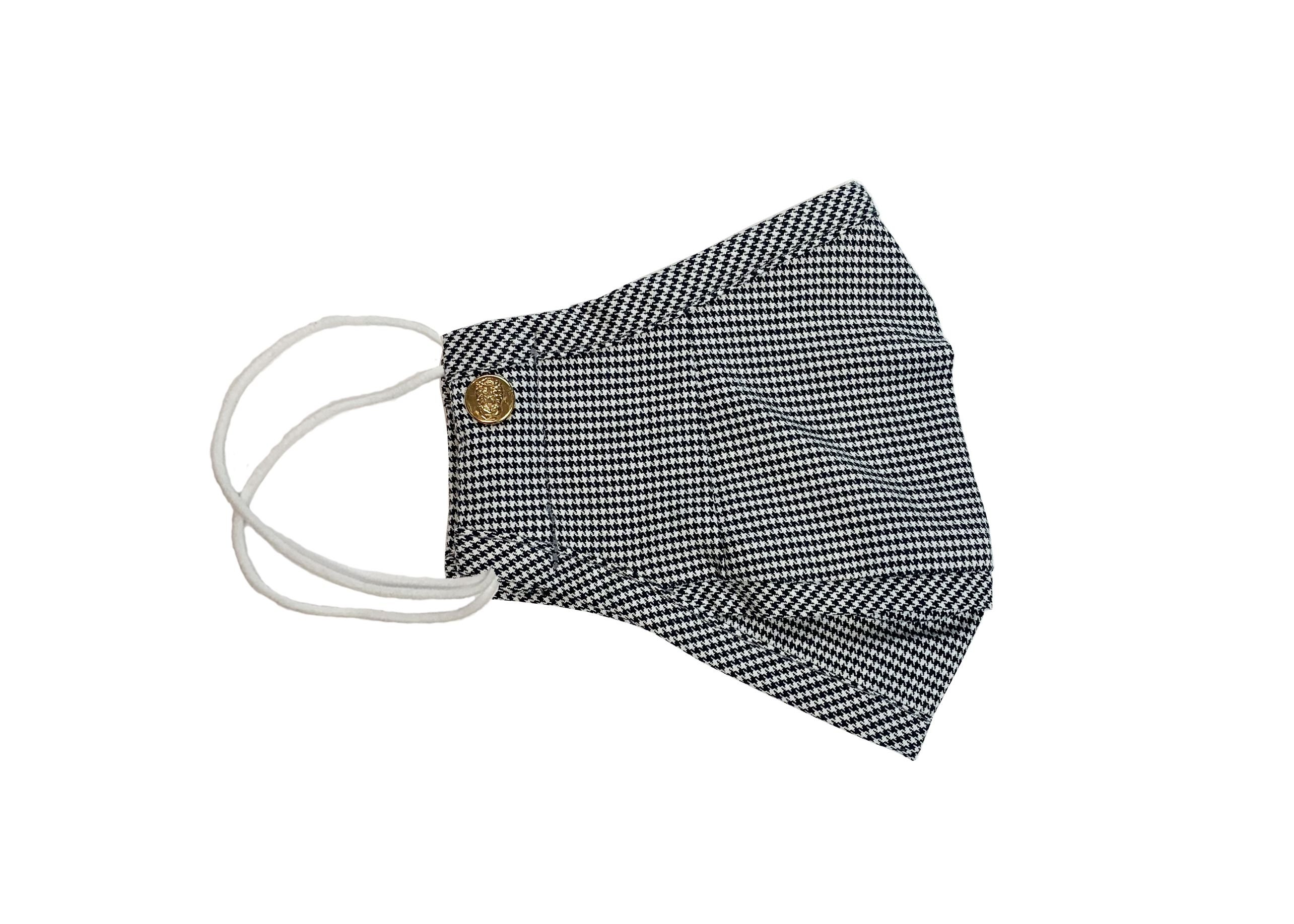 Black Houndstooth Mask