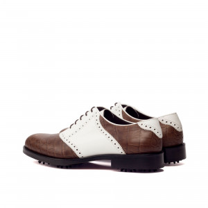 Brown & White Oxford Golf