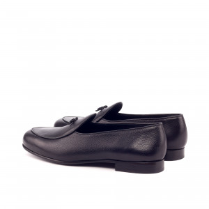 Black Calf Belgian Slipper