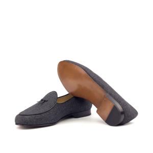 Brown Flannel Belgian Slipper