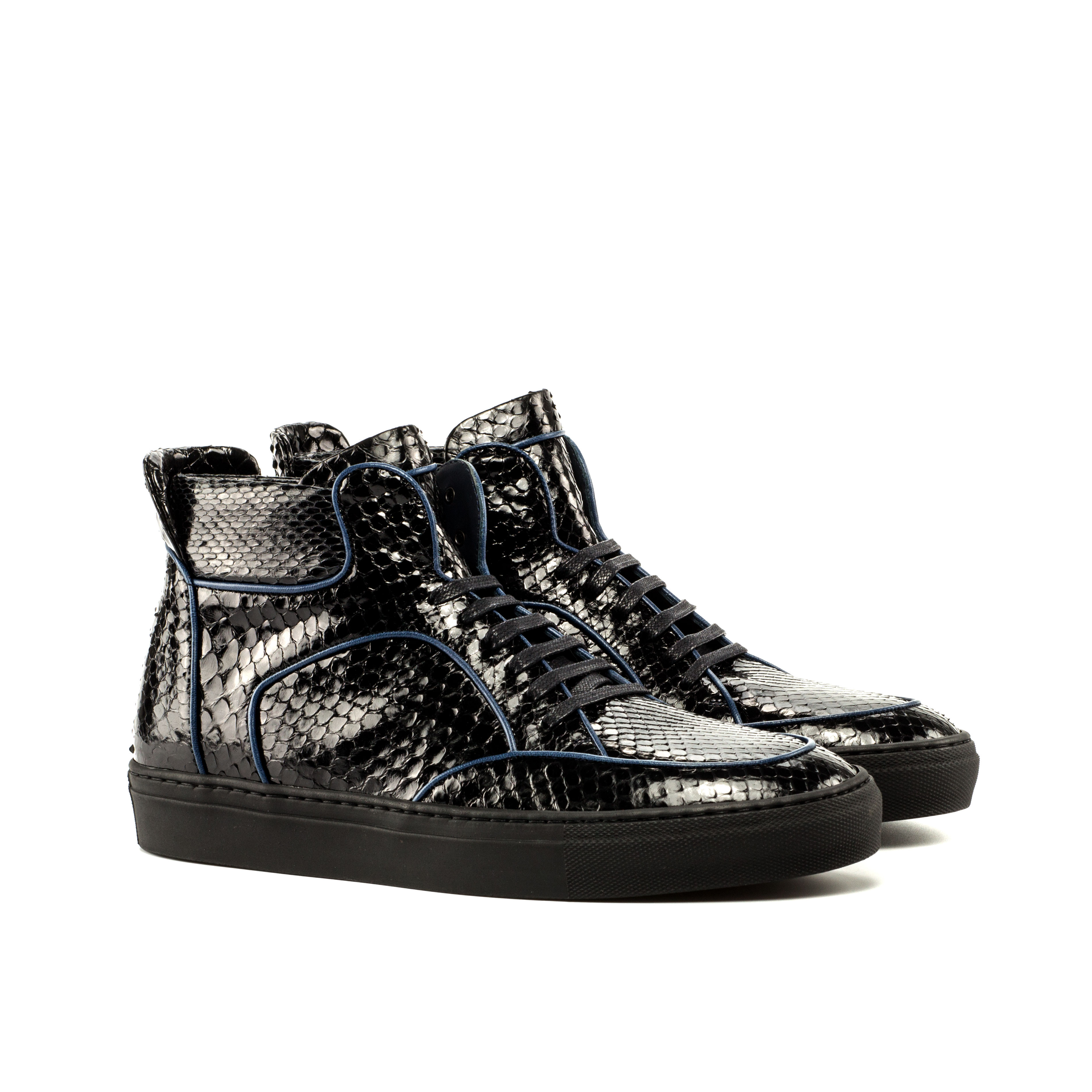 Black Python High Top