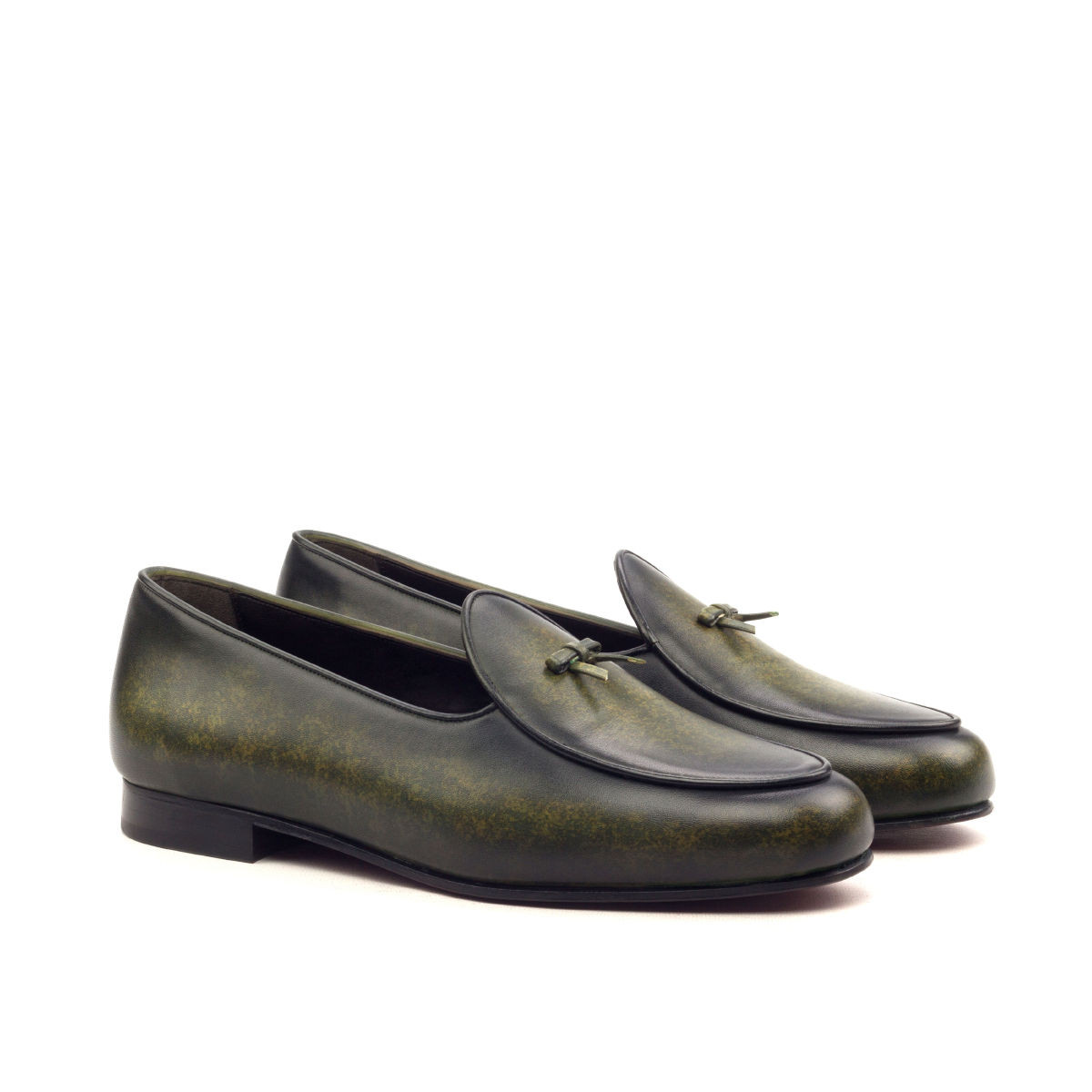 Green Patina Belgian Slipper