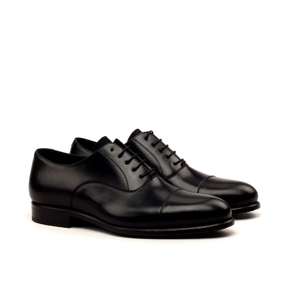 Black Calf Captoe Oxford