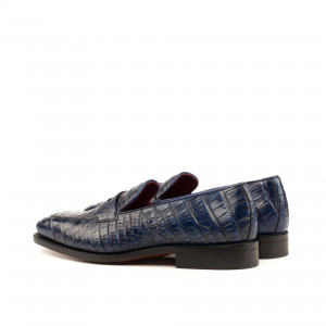 Navy Blue Alligator Loafer