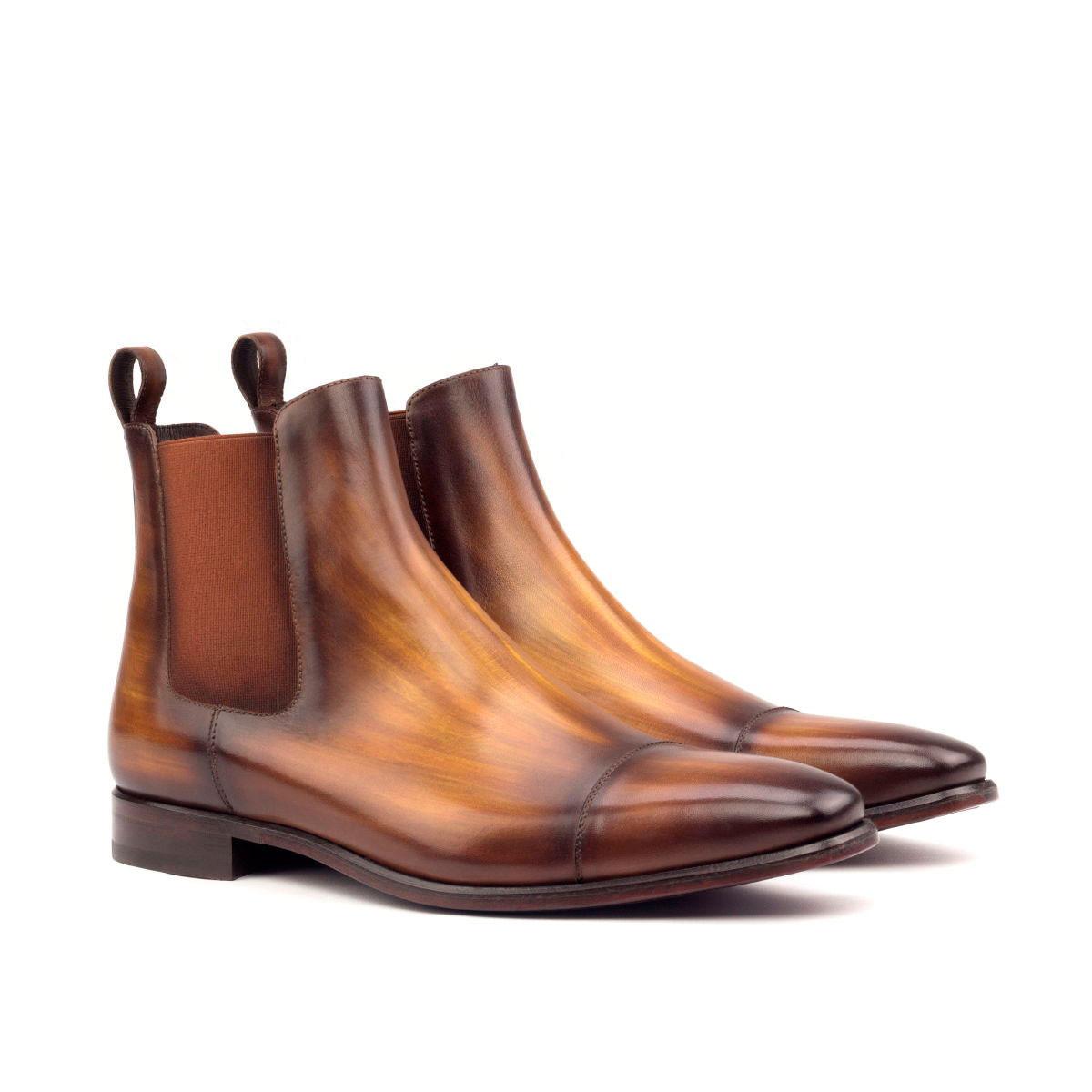 Cognac Patina Classic Chelsea Boot